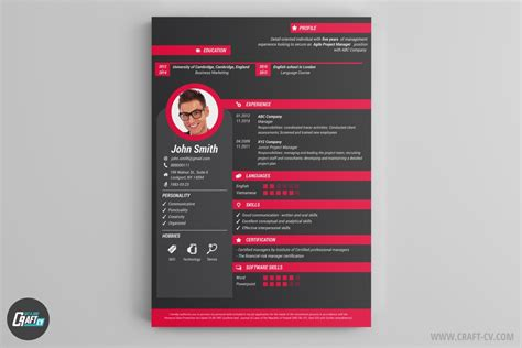 Free Creative Resume by Resume Builder Creative Resume Templates Craftcv