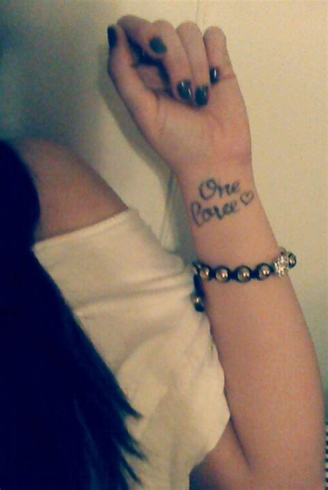 one love tattoo on wrist one wrist tattoos