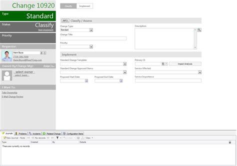 log a standard change detailed
