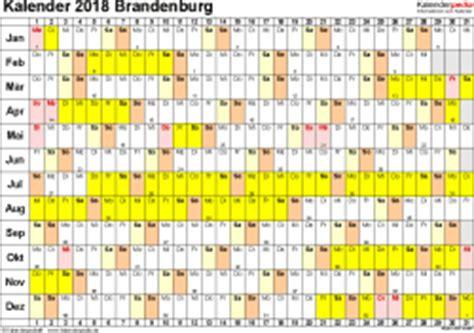 Kalender 2018 Mit Feiertagen Brandenburg Kalender 2018 Brandenburg Ferien Feiertage Pdf Vorlagen