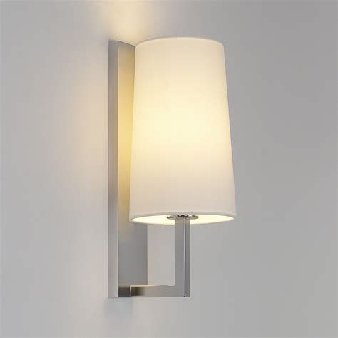 wall lighting astro 7022 riva 350 matt nickel modern wall light at