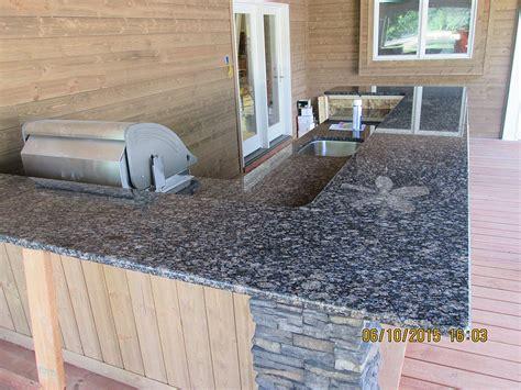granite outdoor kitchen countertop w 38� radius top