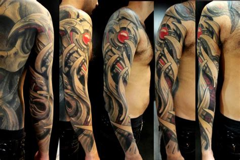 biomechanical tattoo arm sleeves biomechanical arm tattoos pictures to pin on pinterest