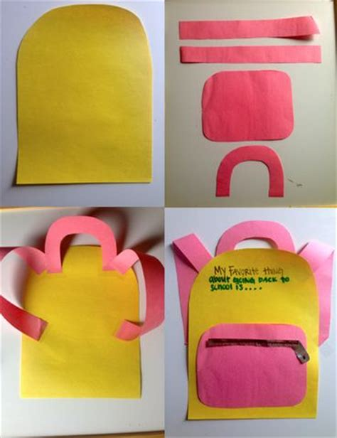 crafts for school 25 best ideas about backpack craft on