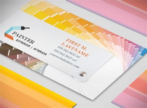 painting contractor business card templates document moved