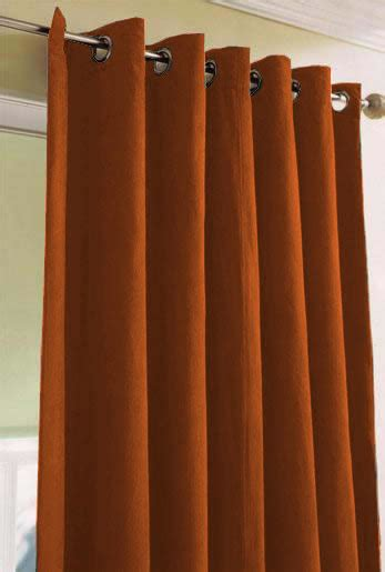 burnt orange window curtains faux suede ring top lined curtains pair finished in