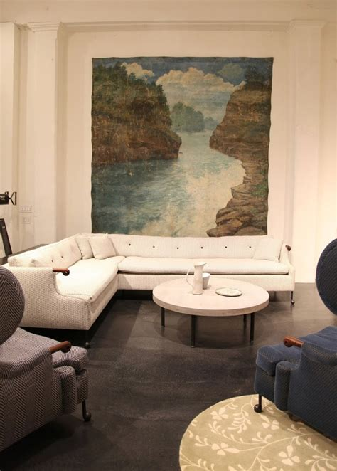 www habituallychic the bddw showroom in nyc featuring a hand painted antique
