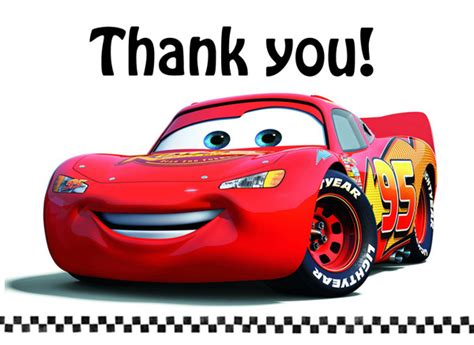 automobile thank you card template free with the depews connor s 4th birthday
