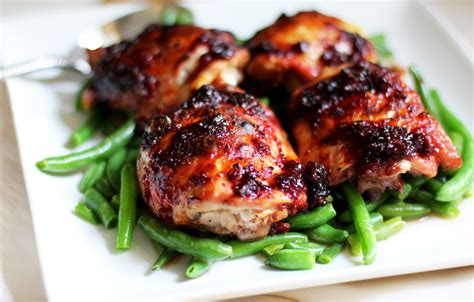 spicy apple bbq chicken thighs chef jimmy boswell