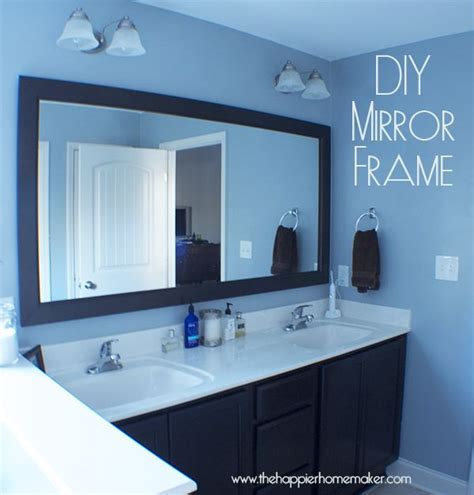how to put a frame around a bathroom mirror 25 best ideas about diy bathroom mirrors on pinterest