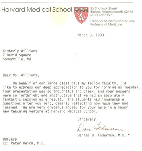 Harvard Acceptance Letter Exle Boston Electrolysis 174 Boston School Of Electrolysis At Harvard School