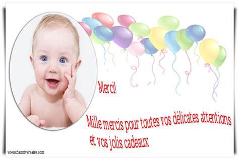Lettre De Remerciement D Anniversaire texte remerciement anniversaire enfant texte carte