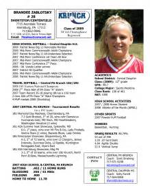 college recruiting profile template best photos of athlete bio template football player