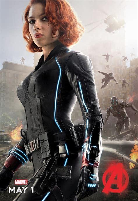 black widow avengers new avengers age of ultron posters reveal black widow