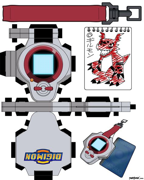 Digivice Papercraft - digivice tamers takato by randyfivesix on deviantart