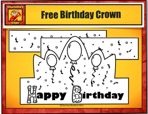 Happy Birthday Crown Template by S And Kindergarten Free Birthday