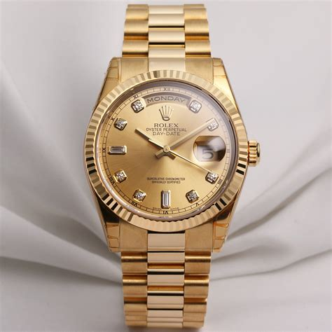 Rolex Fullgold unworn set rolex daydate 118238 watchcollectors co uk