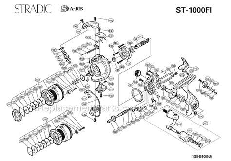 shimano stradic parts diagram shimano st 1000fi parts list and diagram