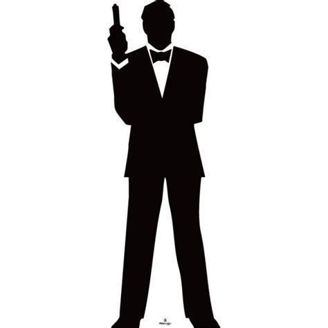james bond silhouette silhouette targets cardboard images