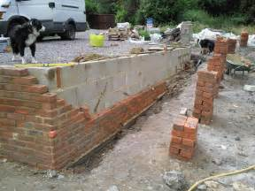 brick garden wall retaining wall built by southton