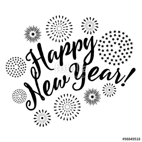 new year images black and white quot happy new year fireworks eps 10 vector black and white
