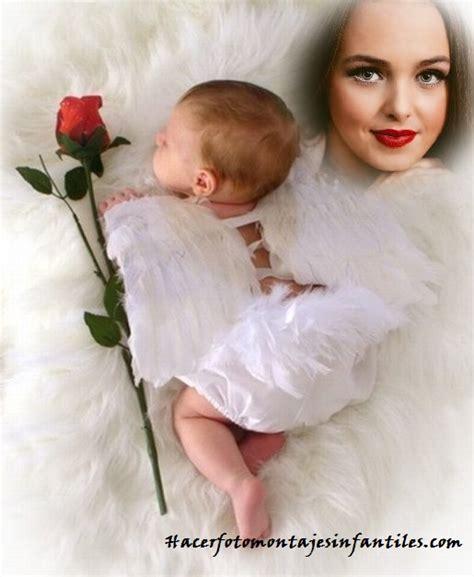 decorar fotos de bebes gratis fotomontaje con angelitos para decorar fotos de bebes