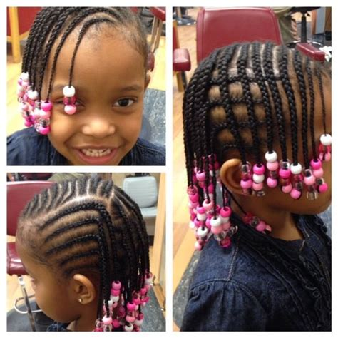 hairstyles with braids and beads french braids with beads children hairstyles pinterest