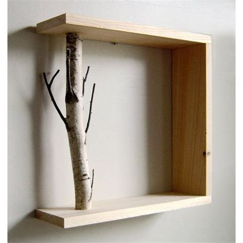Shelf Support Ideas by Don T Diy A Boring Shelf Add A Tree Branch Twig As A Support To The Wood Salvage Upcycle
