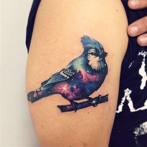 animal galaxy tattoo vibrant animal tattoos twinkle with spectacular colors of
