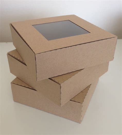 kraft boxes with window kraft card square gift presentation box with or without window
