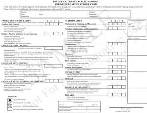Sample Report Cards For Kindergarten Kindergarten Report Card Template Grade Card Pinterest