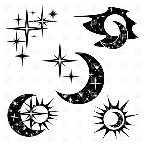 changing to night clipart half moon pencil and in color