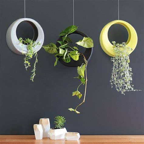 moon pots hanging planters origin handmade  paterson