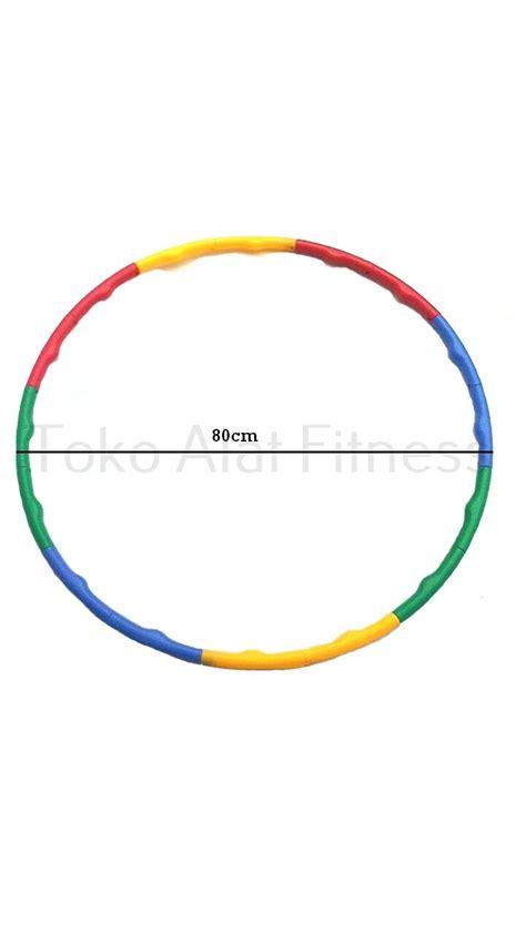 Hula Hoop Warna Warni Diskon adjustable hula hoop warna warni 80cm toko alat fitness