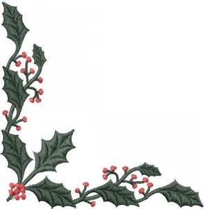 Cool Frame Designs free embroidery design holly leaves corner