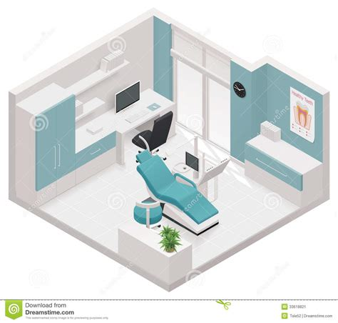 Furniture Icons For Floor Plans by Vector Isometric Dental Clinic Icon Stock Image Image