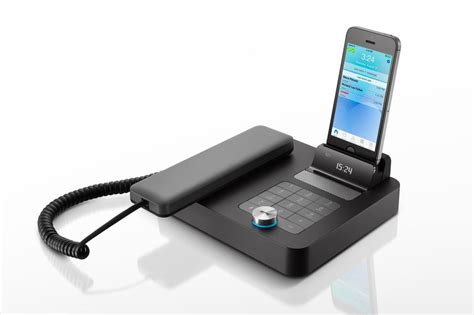 mobile phone desktop invoxia s stylish desktop phone puts your mobile device to