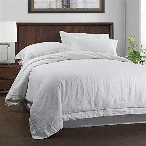 simple opulence 100 linen duvet cover set 3 white