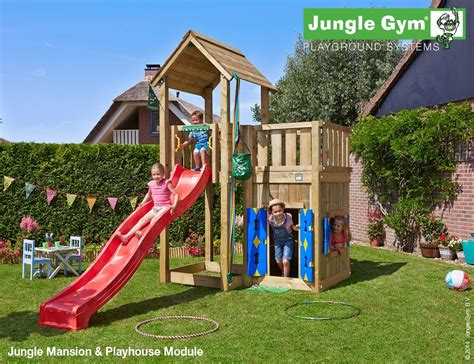 swing mansion the mansion playhouse 2 swing climbing frame from jungle