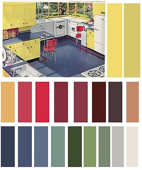 fifties colors 1940s 1950s color schemes design fun in the shop