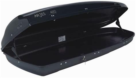 costo box auto arjes 480 lt nero lucido metallizzato doppia apertura