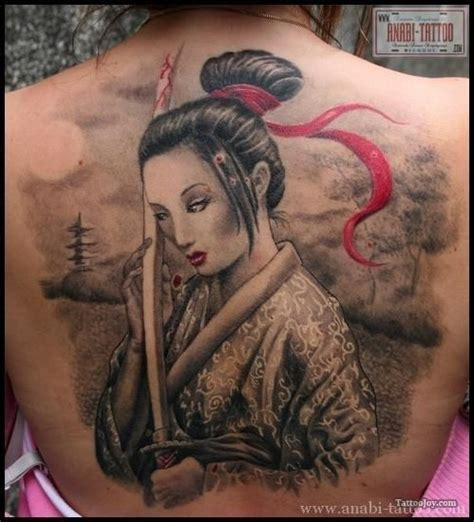 samurai tattoo with geisha samurai geisha