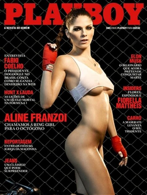 Photo Ufc Ring Card Girl Lands Playboy Cover Bjpenn Com