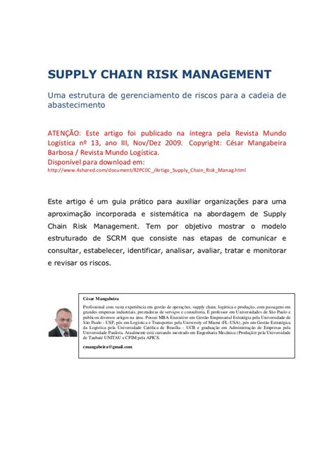 Southern Arkansas Mba Supply Chain by Www Achain Br Scrm Supply Chain Risk Management