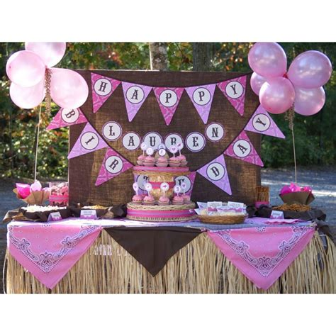 printable cowgirl party decorations southern blue celebrations cowboy cowgirl parties