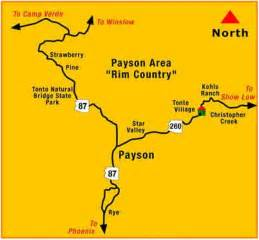 map of payson arizona gallegos reunion 2009 tonto slideshow