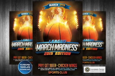 March Madness Basketball Flyer Template By Grandelelo On Deviantart Madness Flyer Template