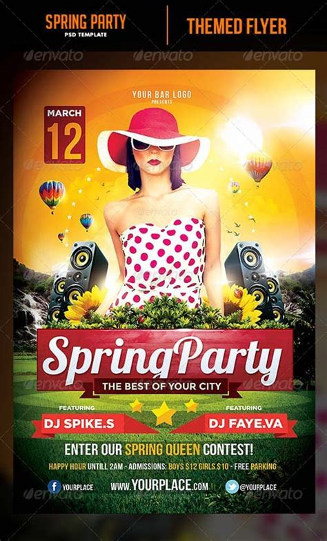 template flyer graphicriver flyer templates graphicriver spring party flyer template