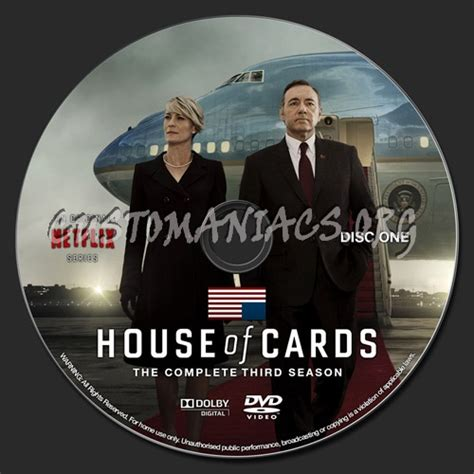 house of labels house of cards season 3 dvd label dvd covers labels by customaniacs id 222763