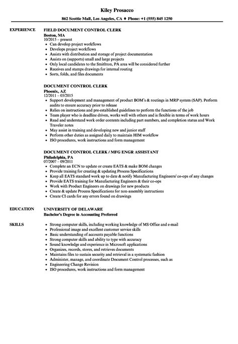 Documentary Credit Format sle resume for document controller transition coach